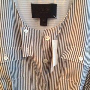 J CREW Collection | Silk Regency-Stripe Shirtdress